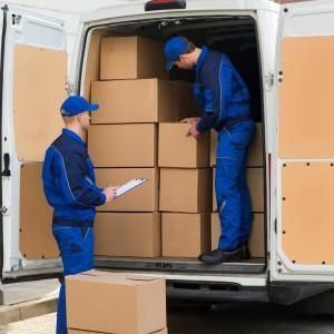 Checking boxes onto van